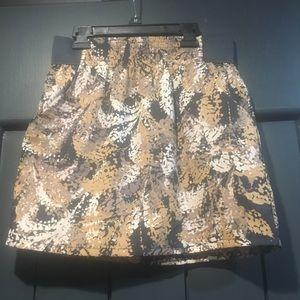 Gap Multicolor Brown, Tan, Grey Mini Skirt. Small